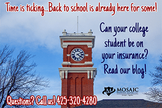 Can your college student be on your insurance?