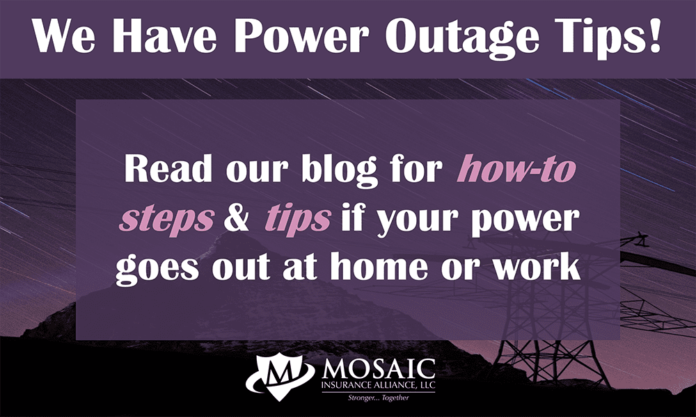 Infographic of power outage tips