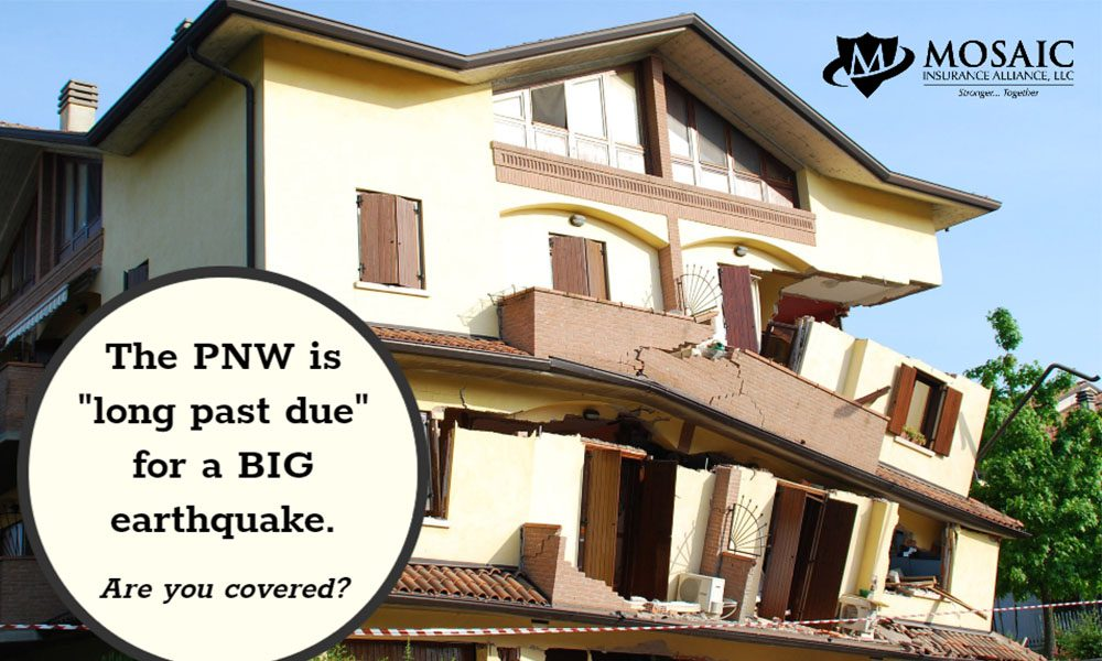 Blog - Collapsing House with Mosaic Logs and the PNW is Long Past Due for a BIG Earthquake Text