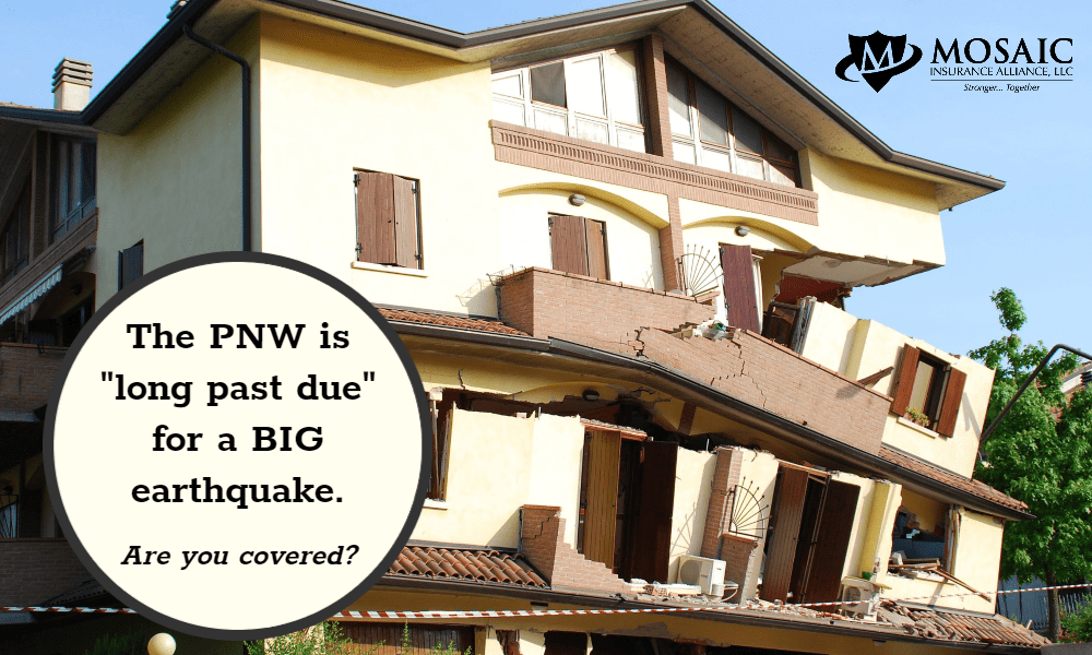 house falling apart from the effects of an earthquake
