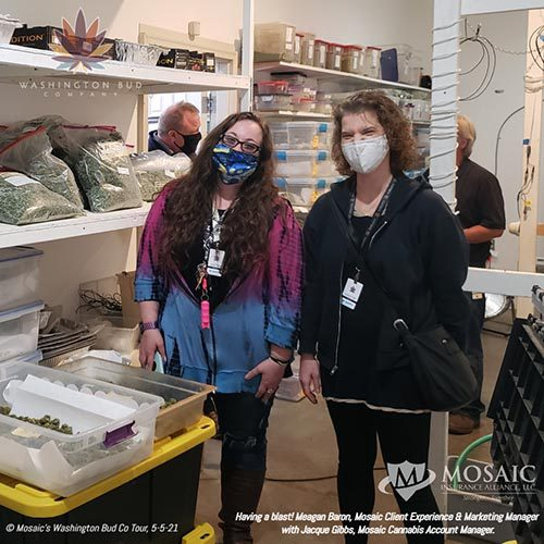 Blog - Meagan and Jacque Smiling for a Photo at the WA Bud Co Tour in 2021