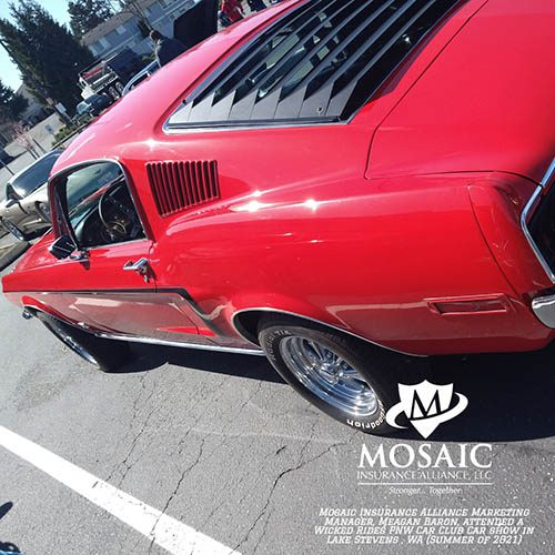 Blog - Classic Auto Insurance, Side View of Red Classic Car in Lynnwood Washington with Mosaic Insurance Alliance
