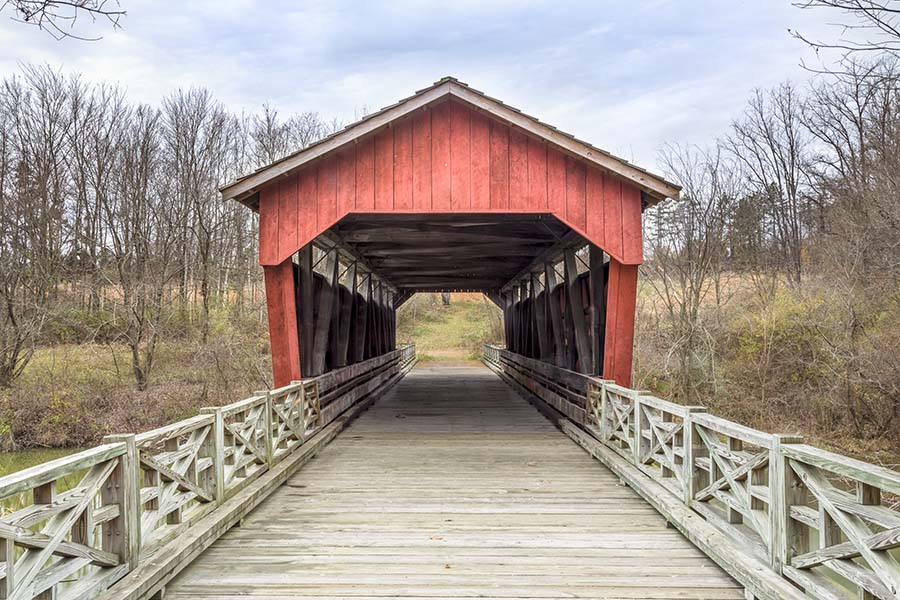 About Our Agency - View of Covered Bridge Road in St Clairsville Ohio