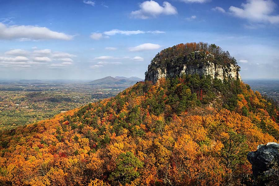 Community Involvement - View of Pilot Knob in the Blue Ridge Mountains in Piedmont North Carolina