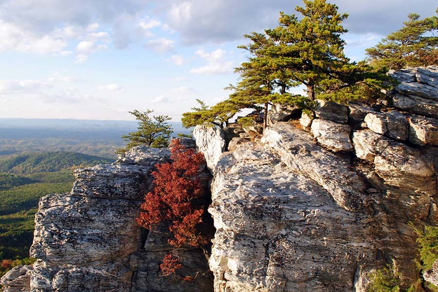 Community Involvement - iew of Hanging Rock Mountain Range in Piedmont North Carolina Against a Blue Sky