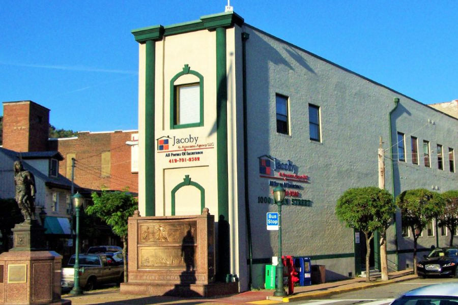 Pittsburg, PA - View of Jacoby & Associates Agency LLC Office Building in Pittsburg, Pennsylvania and Surrounding City Street