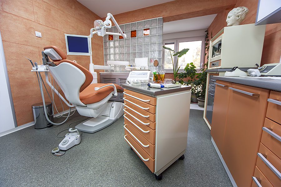 Dental Office Insurance - View of a Dental Office Chair Looking Out the Window of the Dental Practice