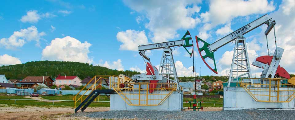 oil pumping site