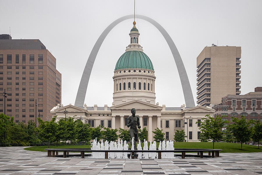 Imperial, MO Insurance - Capitol Building at Gateway Arch National Park, Fountain in the Foreground .jpg