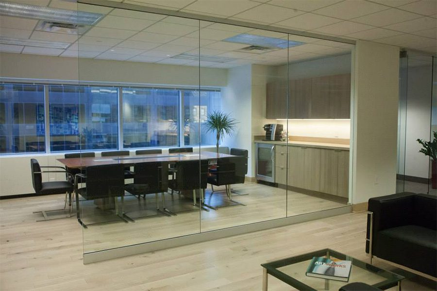 Request a Proposal - View of Modern Empty Conference Room in Evarts Tremaine Office Building