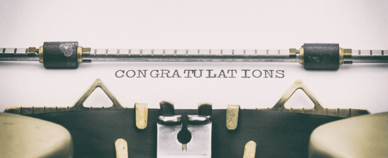 congratulations-typewriter