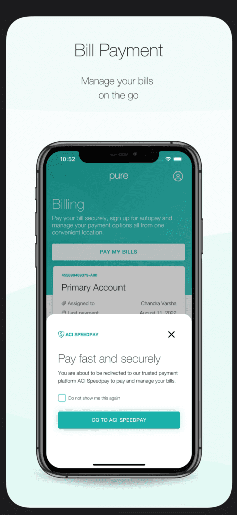 PURE Bill Payment