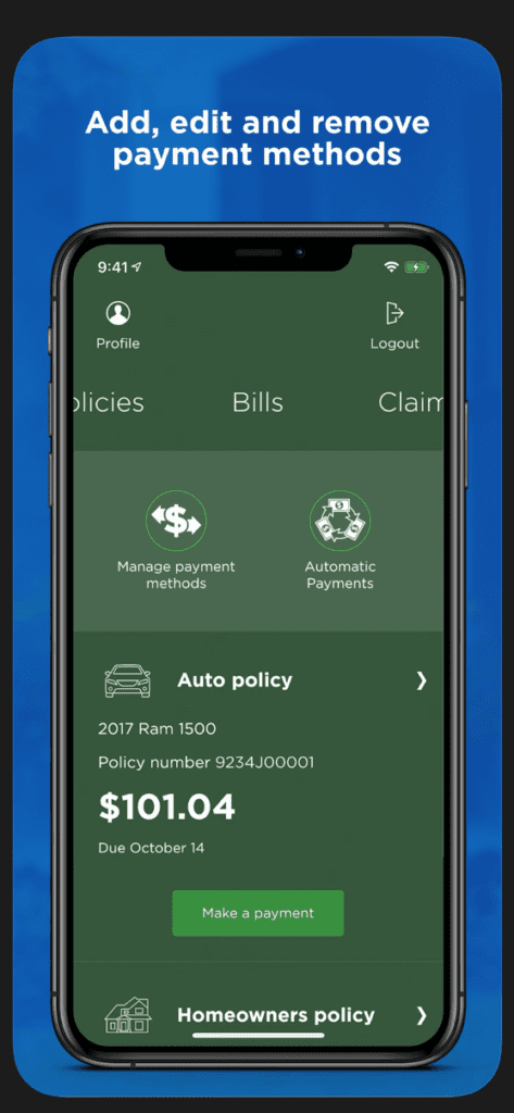 Nationwide Edit Payment Methods