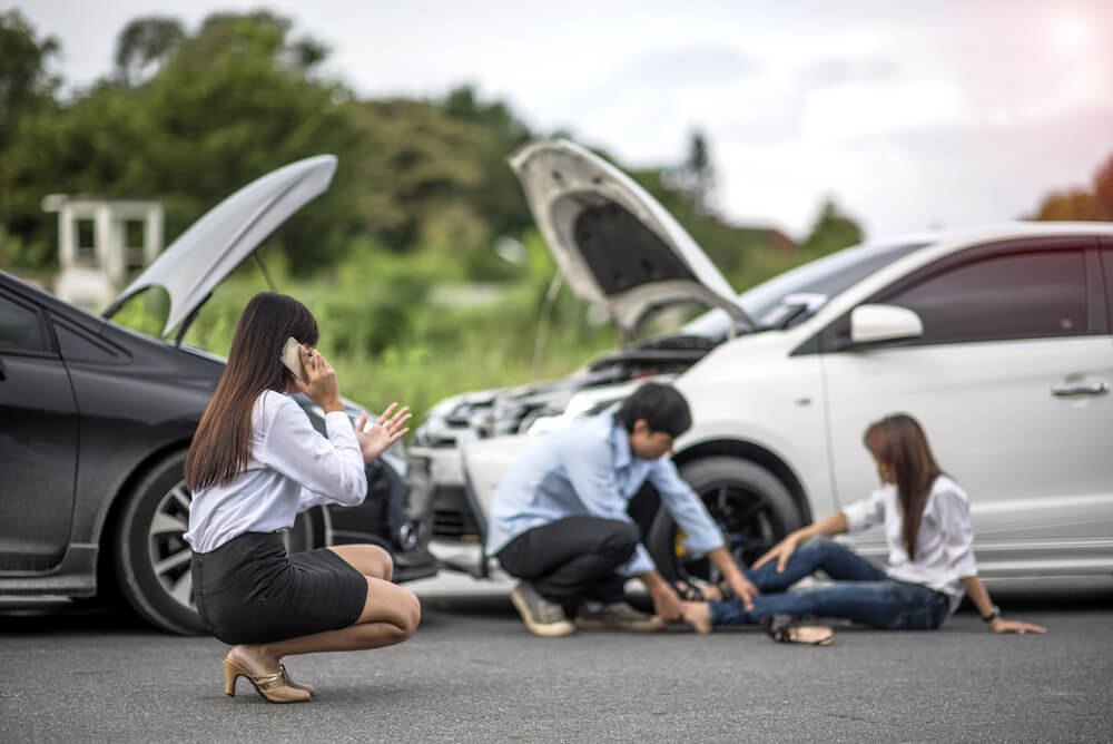 Damage caused by car accident