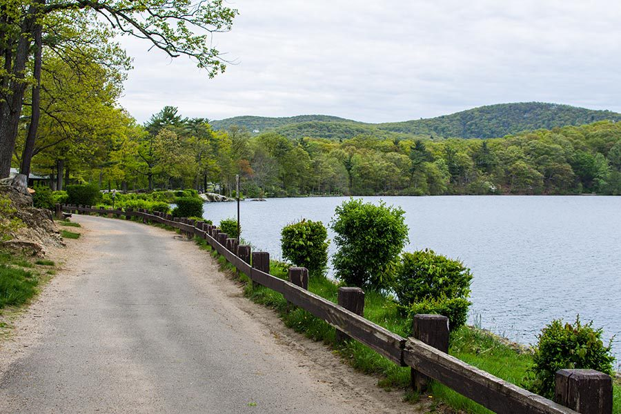 Middletown, NY Insurance - Lake in Upstate New York With a Walking Path Along the Shore