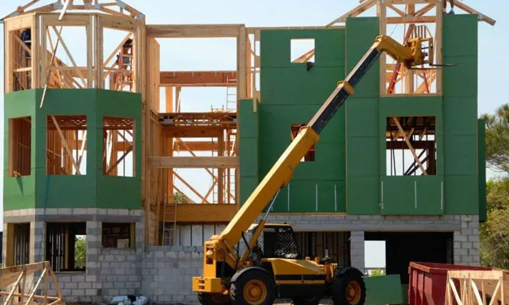 Blog - House Under Construction on a Beautiful Day