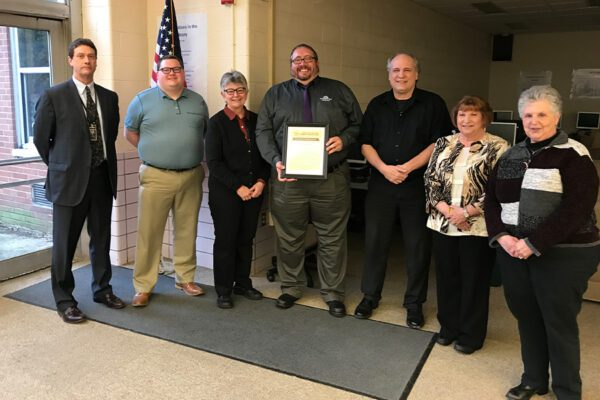 Community - Award with Board and Superintendent