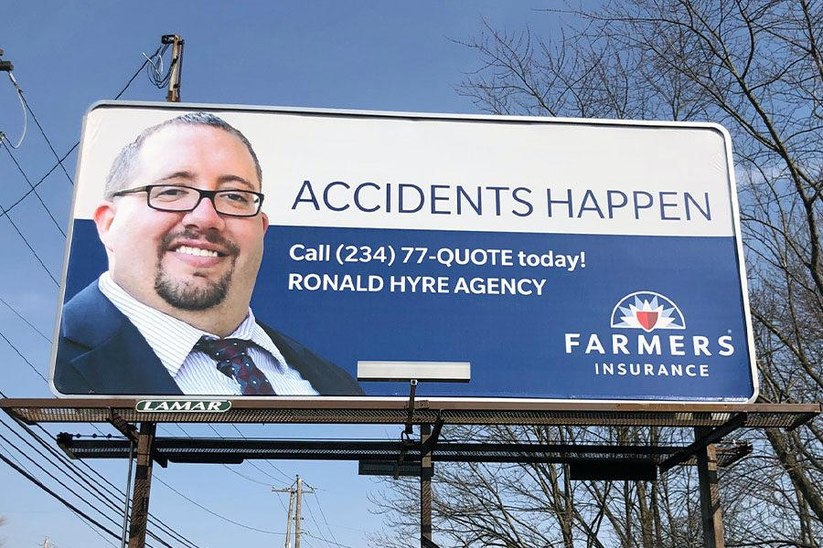 Contact - Billboard of Ronald Hyre Insurance Agency