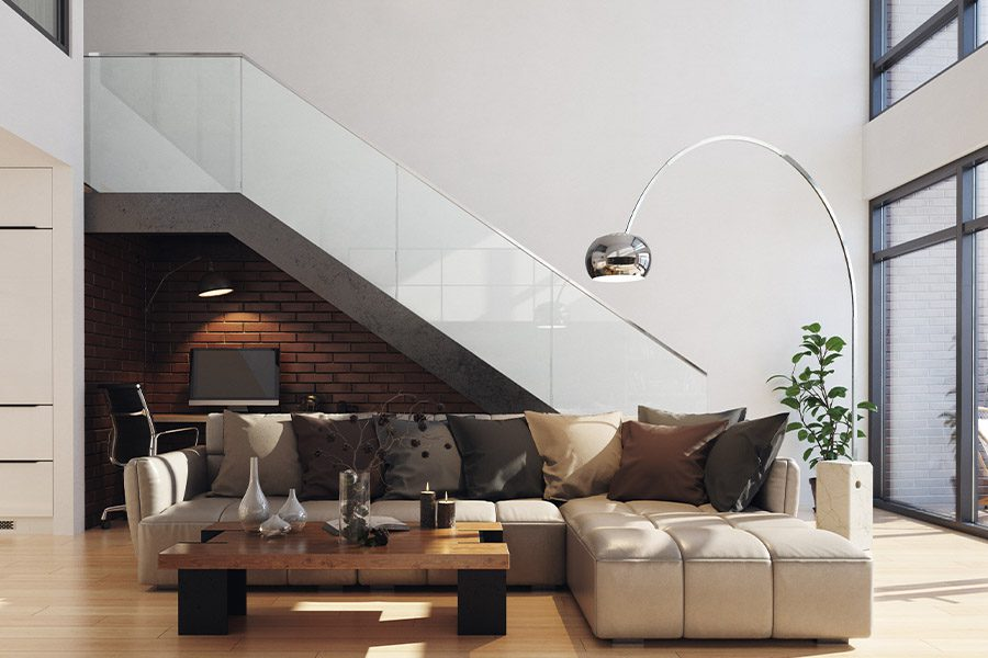 Specialized Business Insurance - Modern Living Room in Upscale Condo Building
