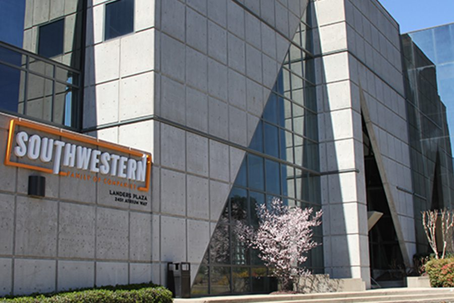 Nashville, TN - Closeup View of Southwest Family of Companies Office Building on a Sunny Day