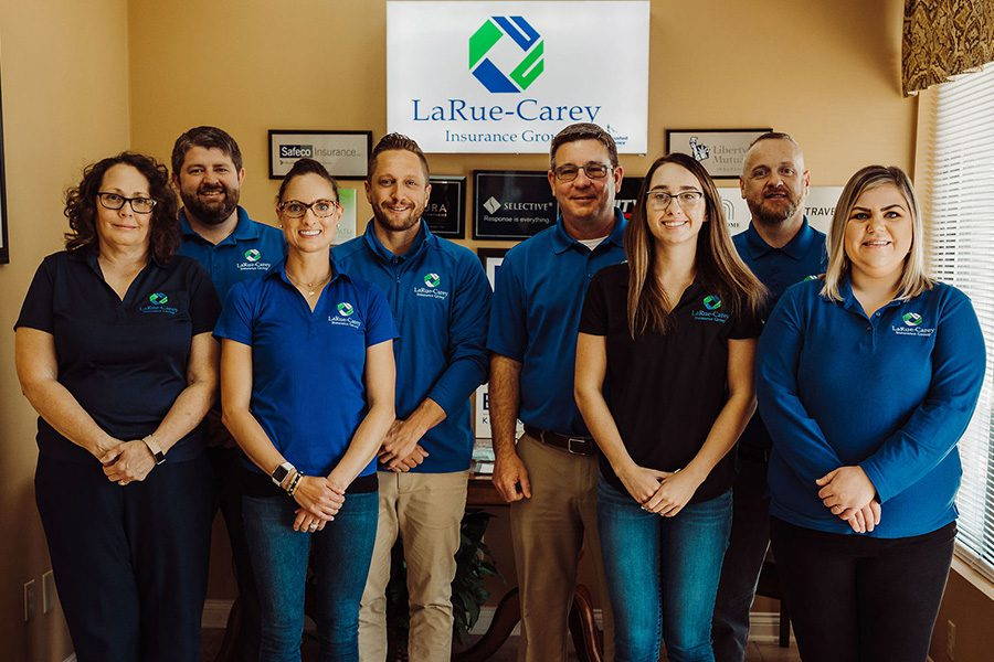 Bardstown, KY Office - View of Groupshot of LaRue-Carey Team Members Standing Together and Smiling