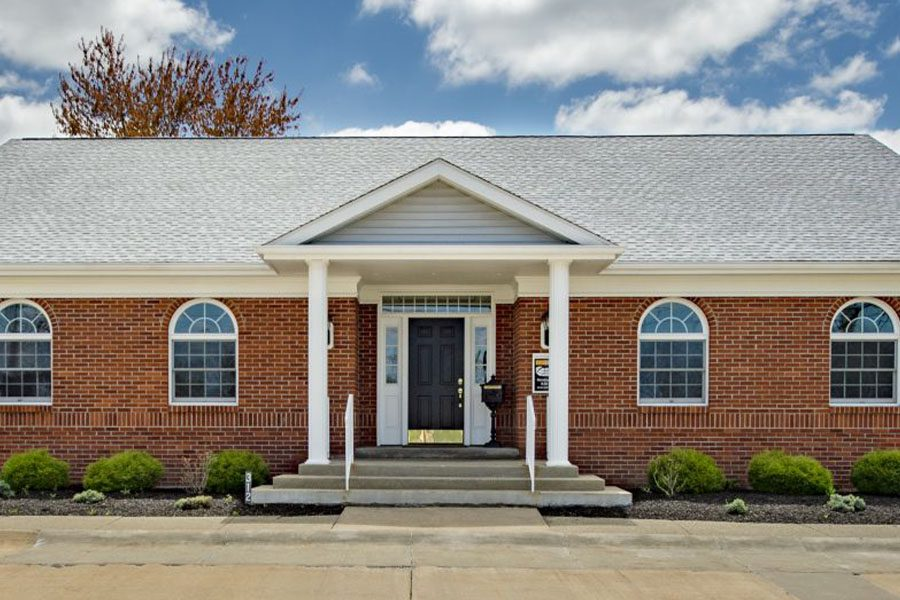 Akron, OH - Front View of Office Building for Advanced Insurance Designs, Inc