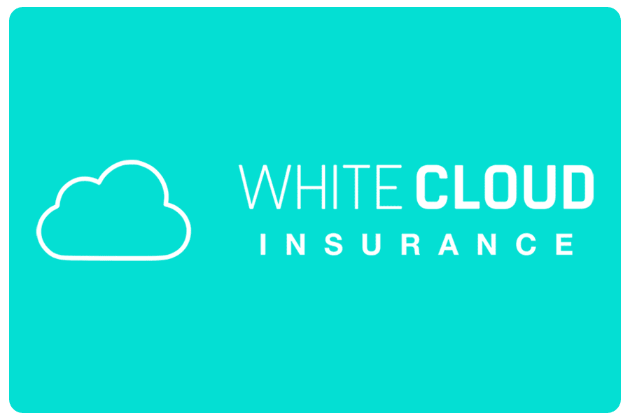 About Our Agency - White Cloud Insurance Logo on Teal Background