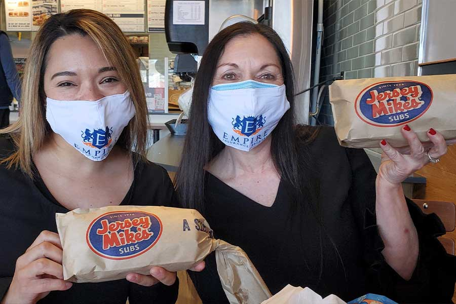 Community Involvement - Portrait of Everett Team at Jersey Mike's Subs to Participate in Their Day of Giving