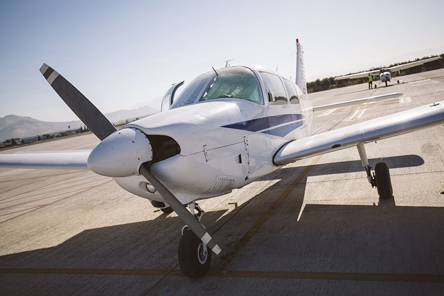 Specialized Business Insurance - View of a Private Airplane on the Runway in the Airport