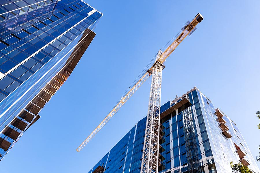 Specialized Business Insurance - High Rise Construction in San Francisco, California, Seen From Below