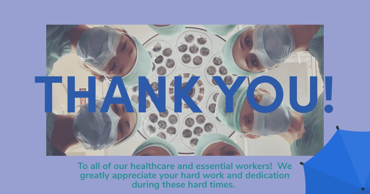 Thank you healthcare and essential workers