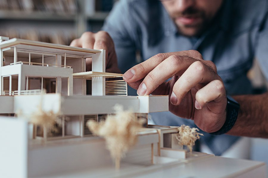 Architect Insurance - Man Planning a Home in His Architect Office