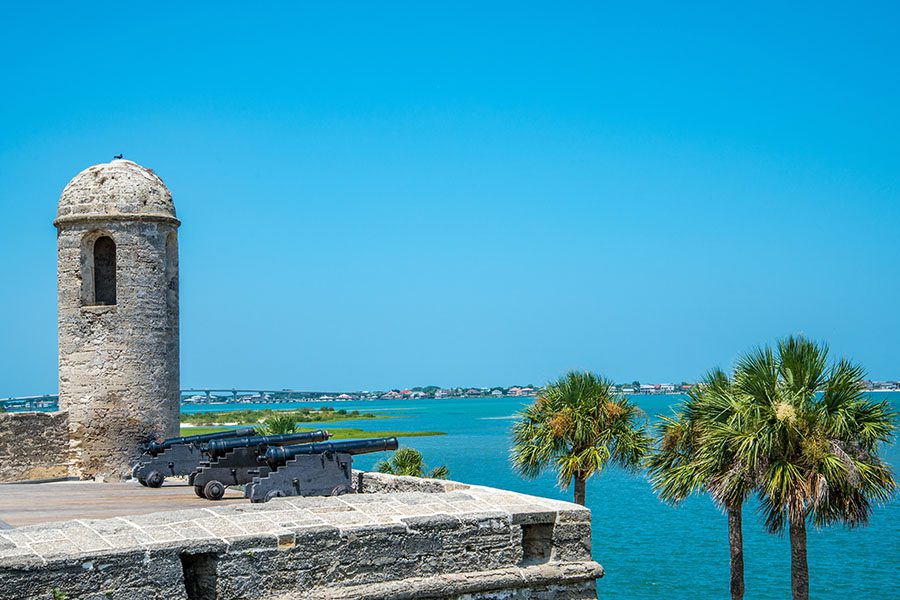 Contact - View of St. Augustine, Florida at the Castillo De San Marcos National Monument on a Sunny