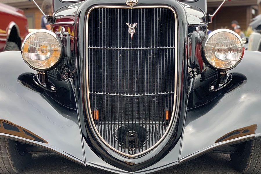 Classic Car Insurance - Front View of a Classic Ford 1929 Black Car