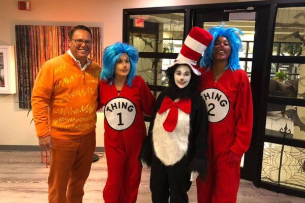 About Our Agency - Portrait of Byrne Insurance Group Agency Team Members Dressed up for Halloween