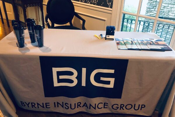 About Our Agency - Portrait of Byrne Insurance Group Convention Table Display