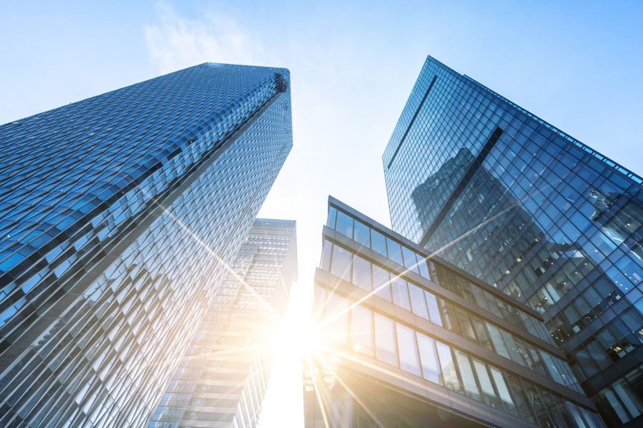 Captive Insurance Management - Abstract Buildings in the City