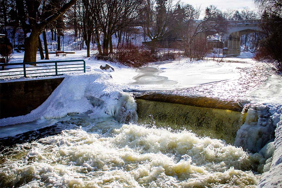 About Our Agency - View of Bear RIver During the Winter in Petoskey Michigan
