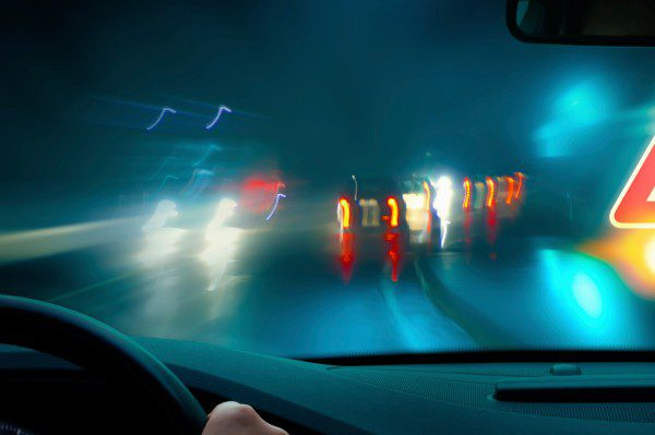 car driving in wet weather
