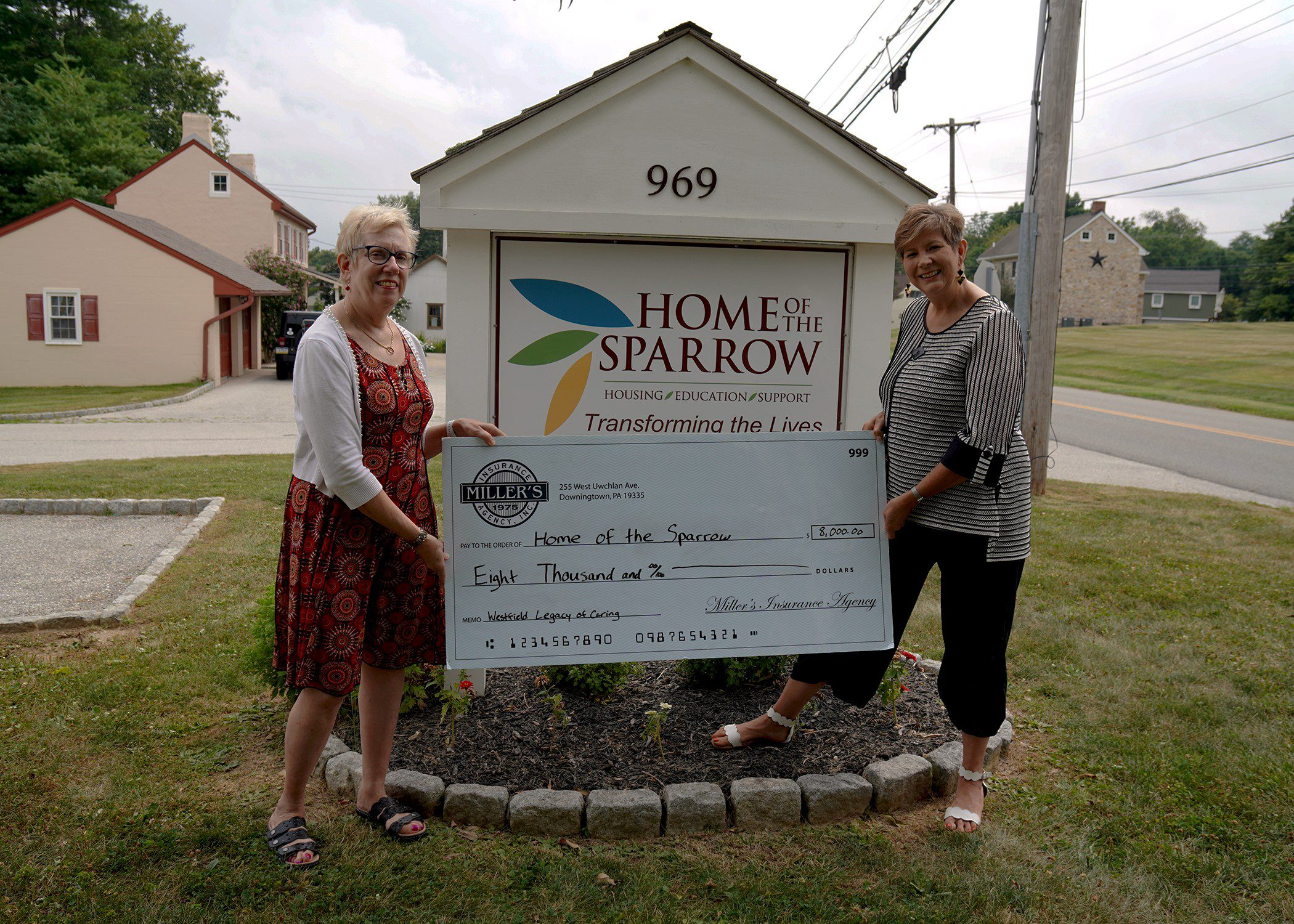 Westfield Legacy of Caring Home of the Sparrow Donation