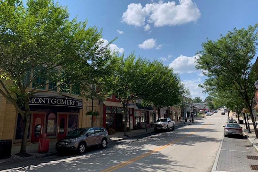 About Our Agency - Main Street in Pennsylvania, Shops and Trees Lining the Road