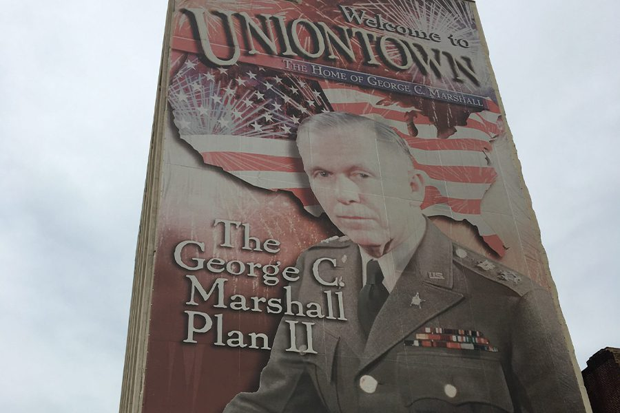 Uniontown, PA - Sign of George C. Marshall