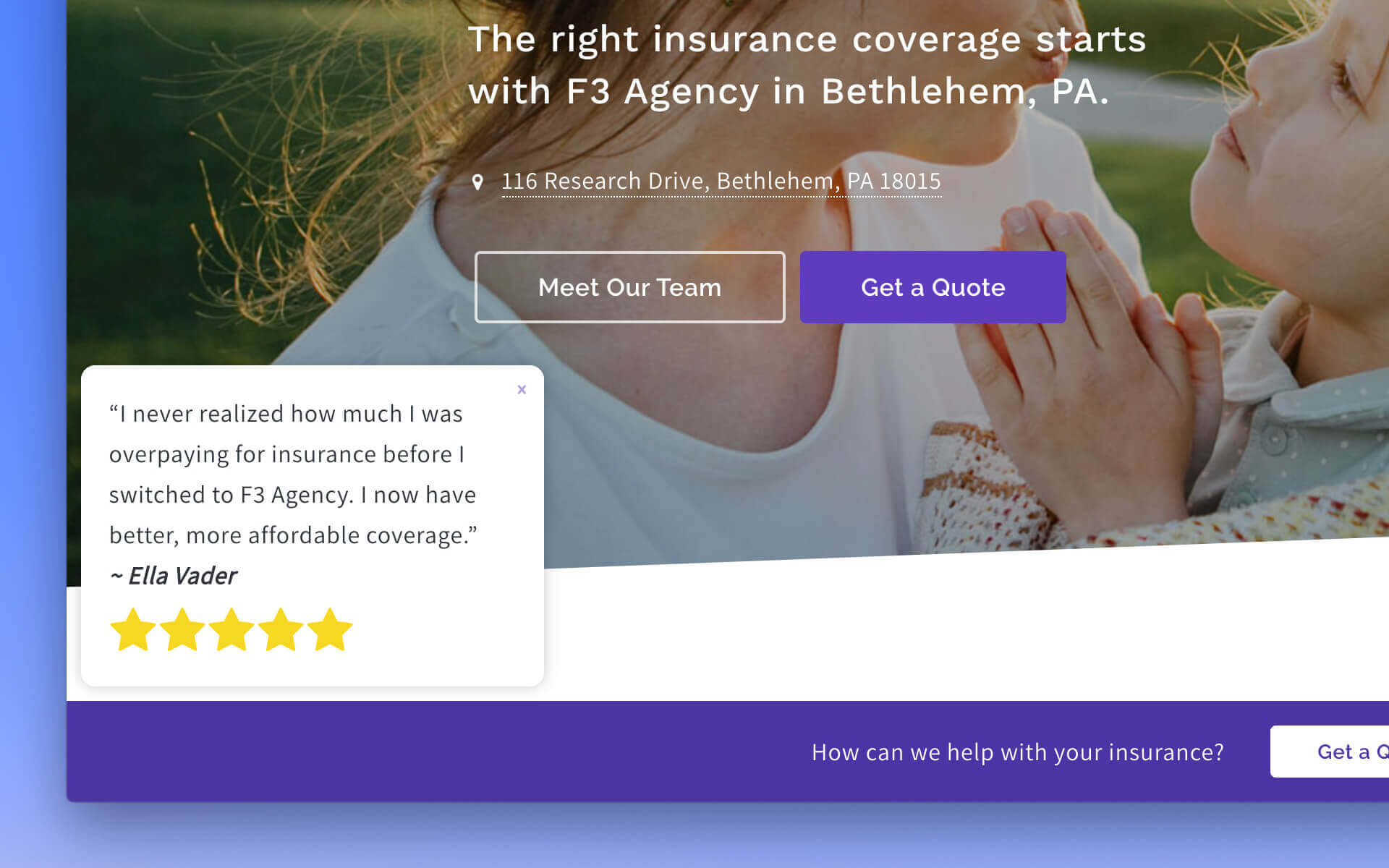 Introducing Power Panels, a proven way to boost insurance agency website conversions
