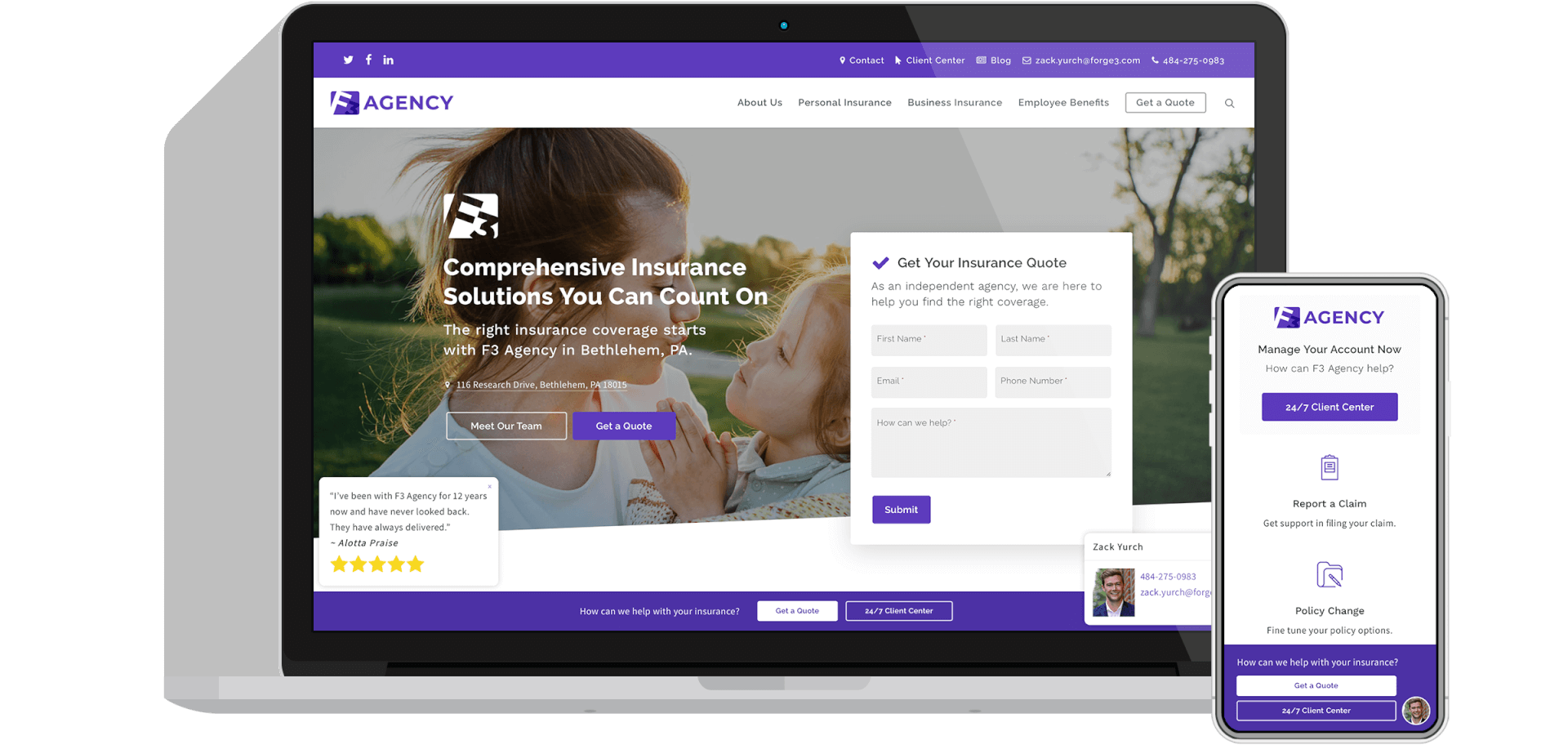 ActiveAgency Insurance Agency Website Platform