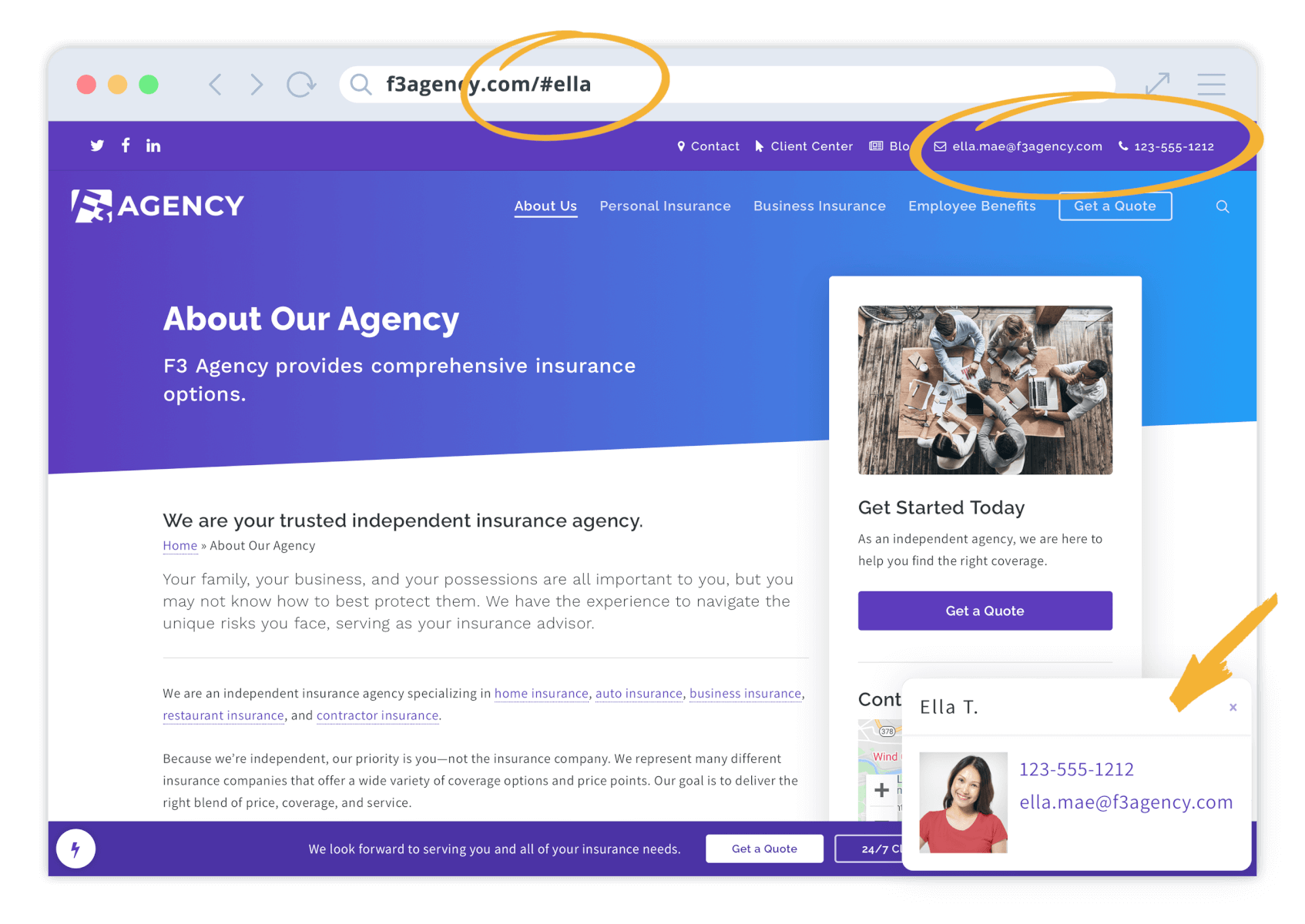 ActiveAgency Website Feature - Hello Producer