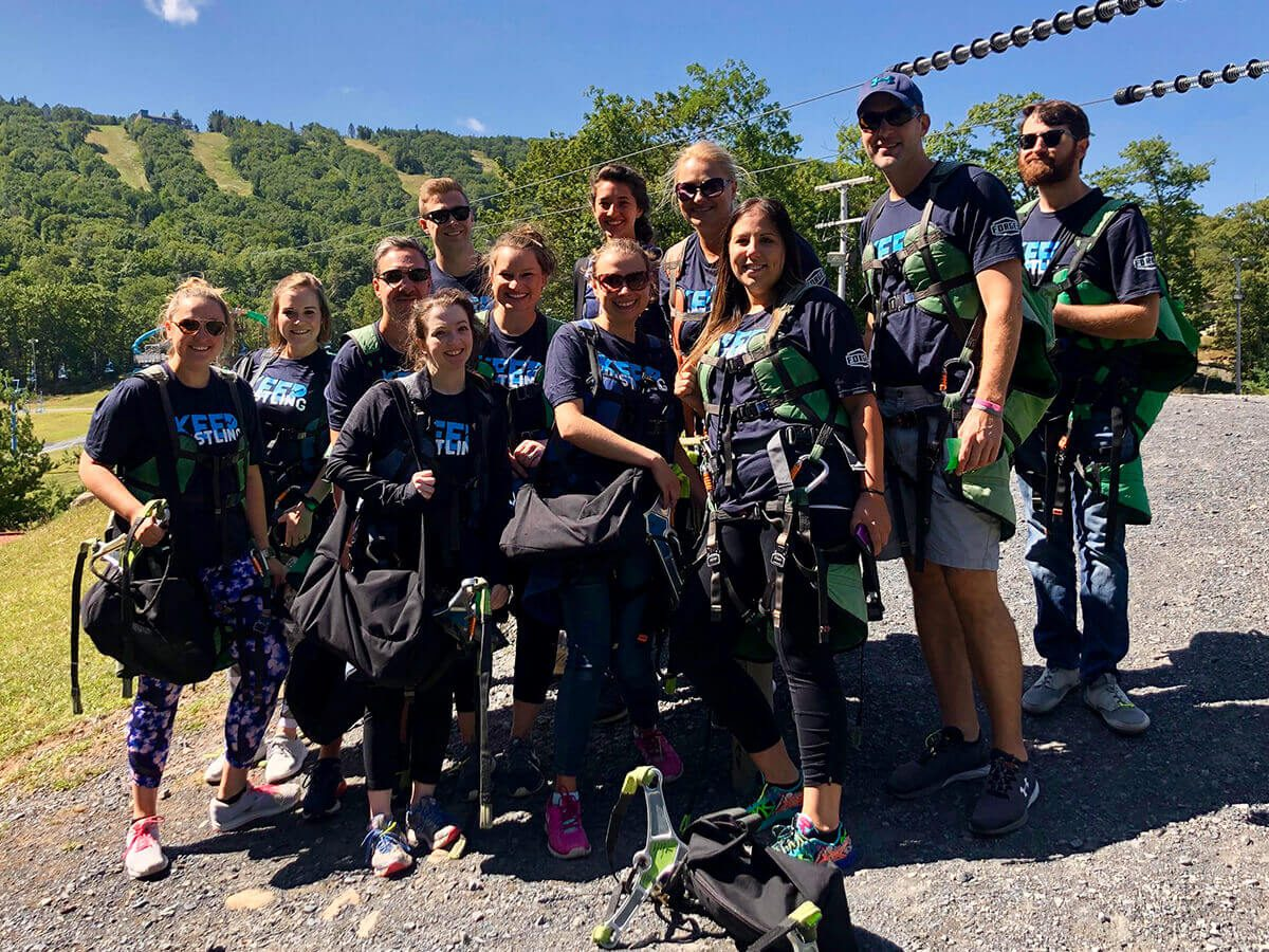 Forge3 Team - Zip Lining