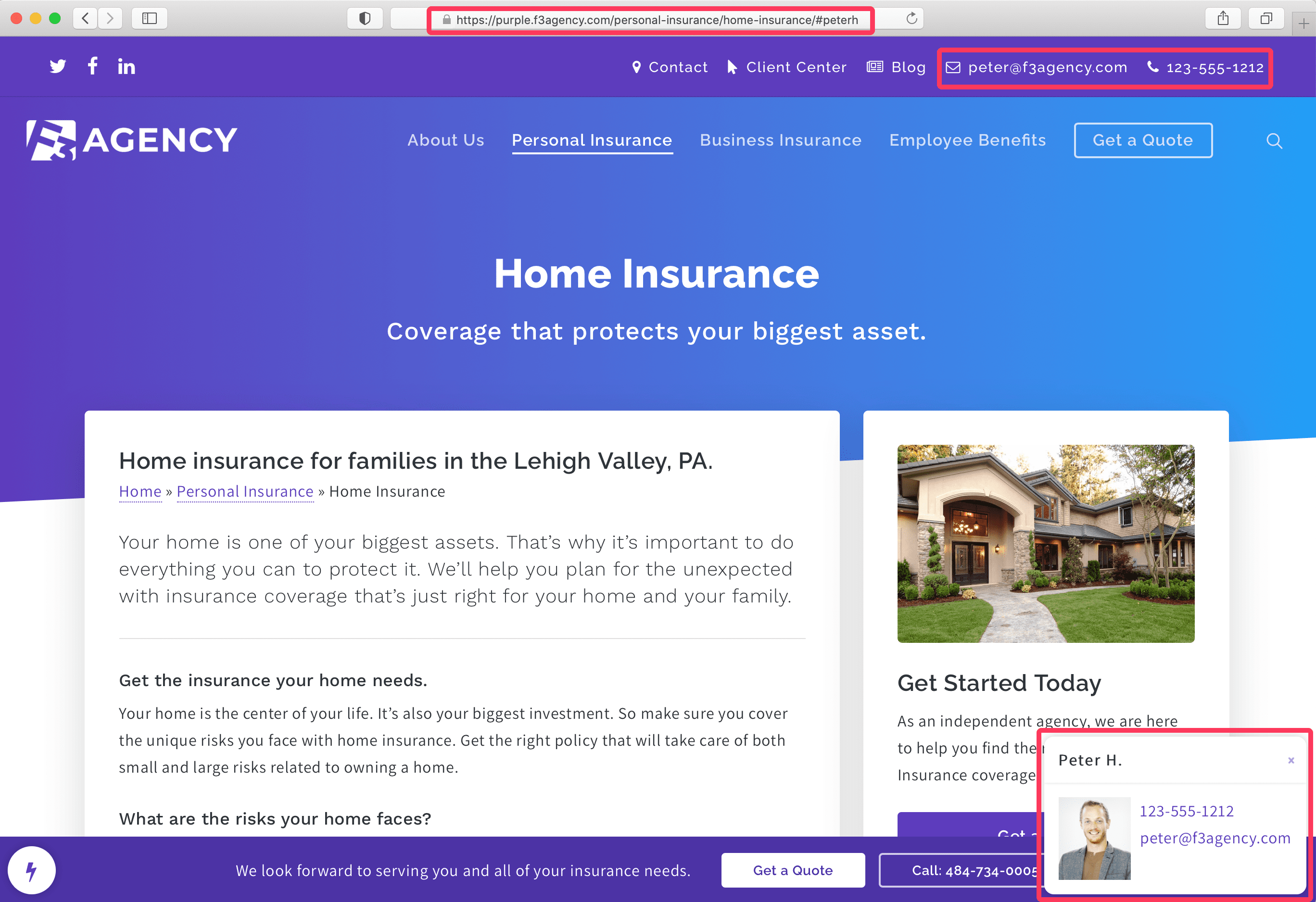 How to Use Hello Producer - Home Insurance Page with Hello Producer Activated