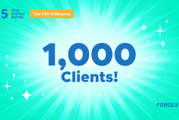 Milestone for Forge3 - 1000 ActiveAgency Clients