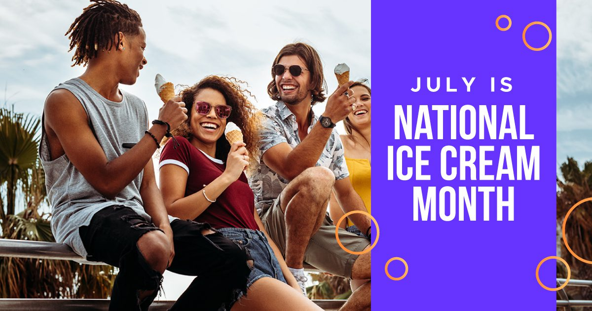 Social General - July is National Ice Cream Month