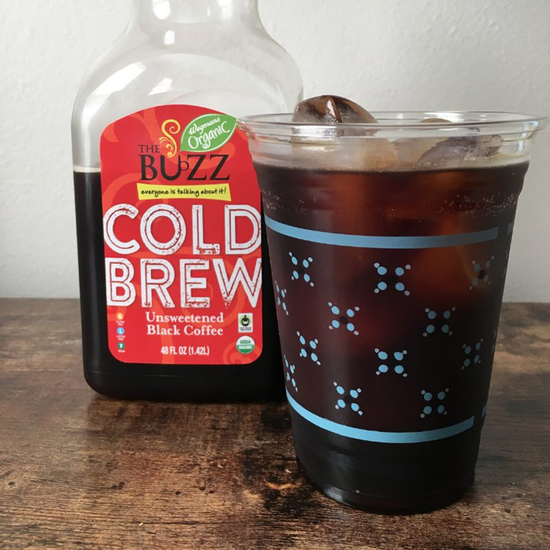 Favorite Beverage - Cold Brew Coffee Bottle Next to Glass of Iced Coffee